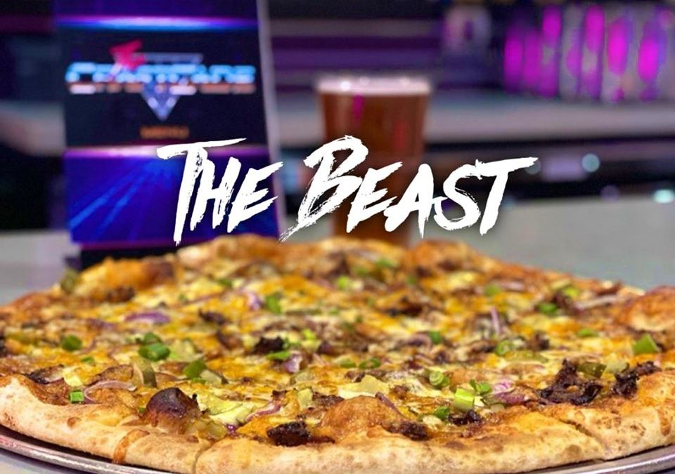 The Beast pizza at The CraftCade