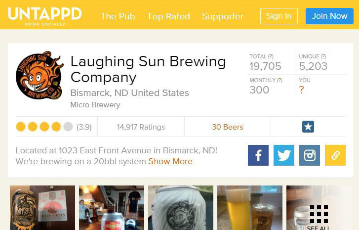 Find us on Untappd