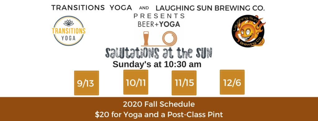 Salutations at The Sun – Yoga & Beer