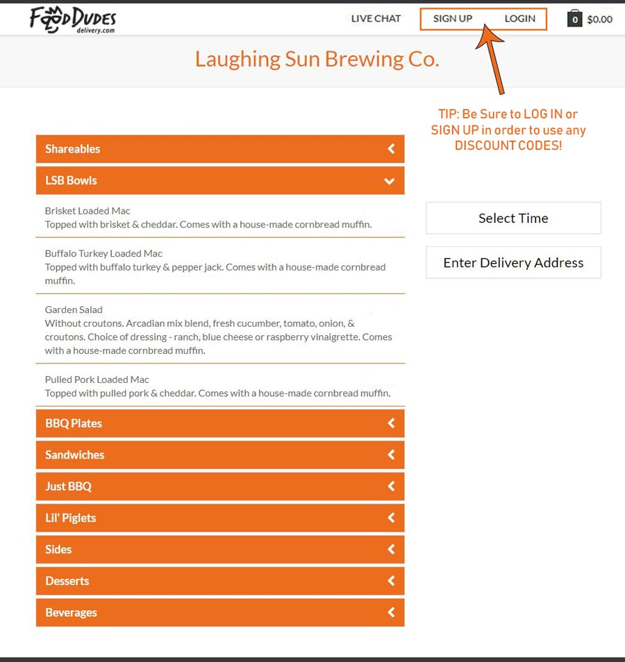 Laughing Sun Menu image on FoodDudes