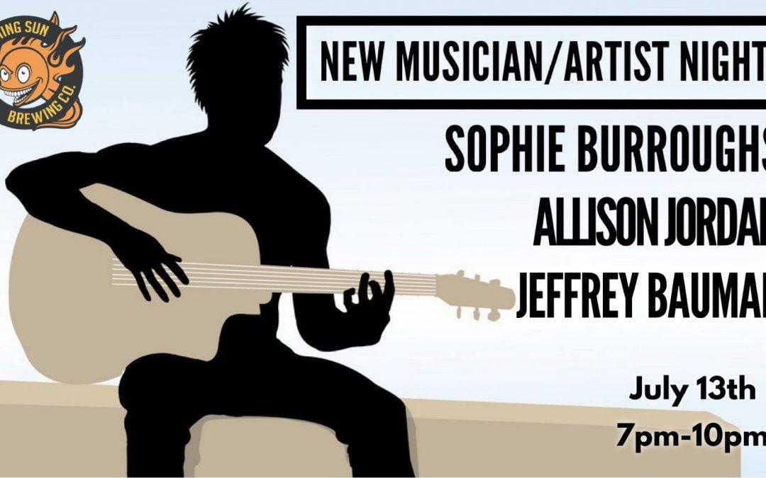 Live Music! New Musician / Artist Night 🎵
