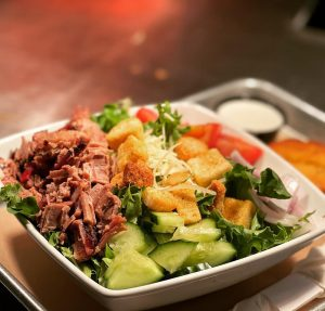 Salad with BBQ Brisket